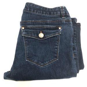 White House Black Market Skinny Flare Jeans Size 8